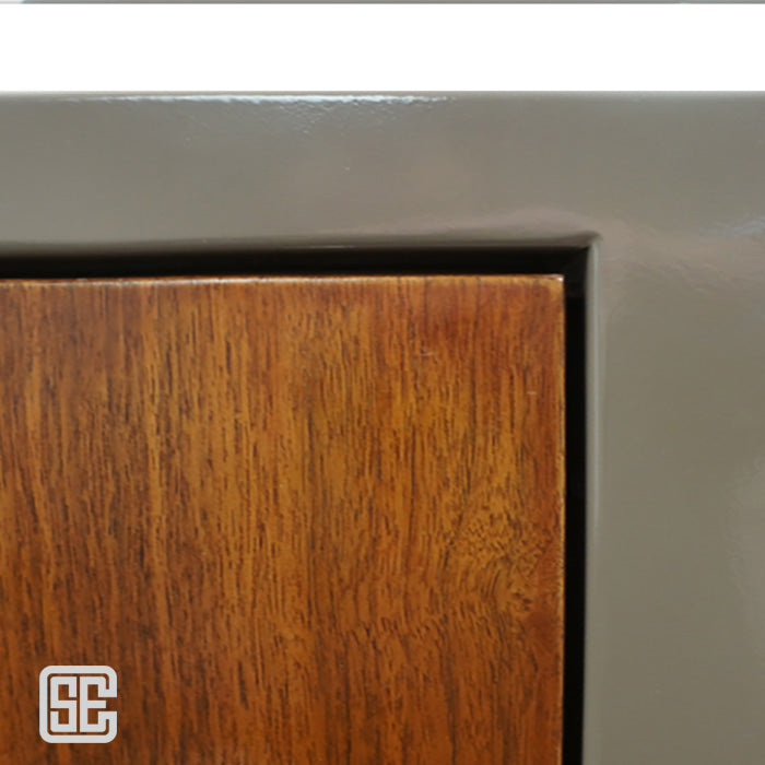 Bullet Resistant Level 3 Wood Door with Slim Light