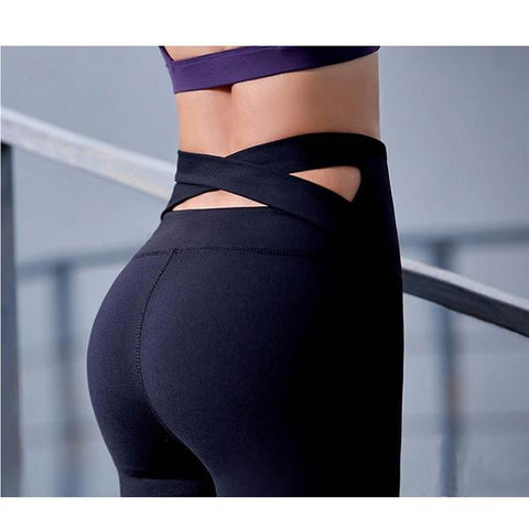 High Quality Push Up Cross Back Strap Leggings