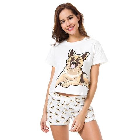 German Shepherd Cotton Pajamas Set