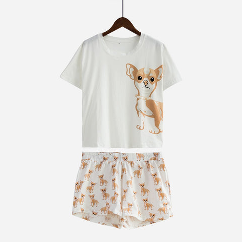 Chihuahua Cotton Pajamas Set