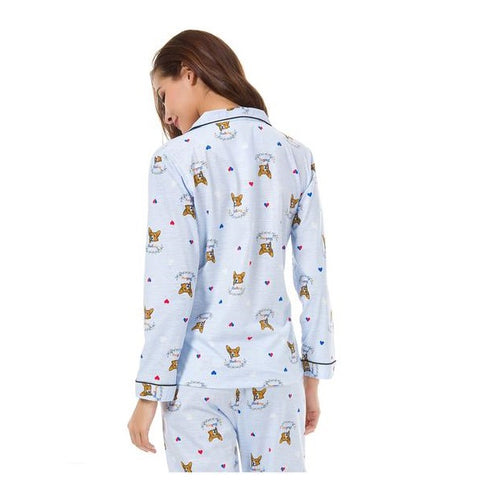 Corgi Cotton Pajamas Set
