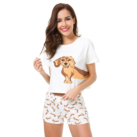 Dachshund Cotton Pajamas Set