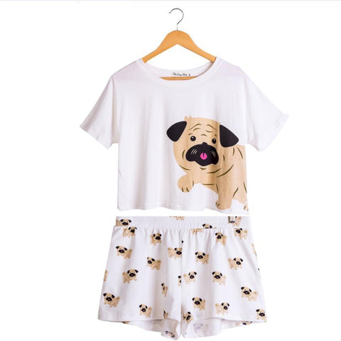 Pug Puppy Pajamas Set