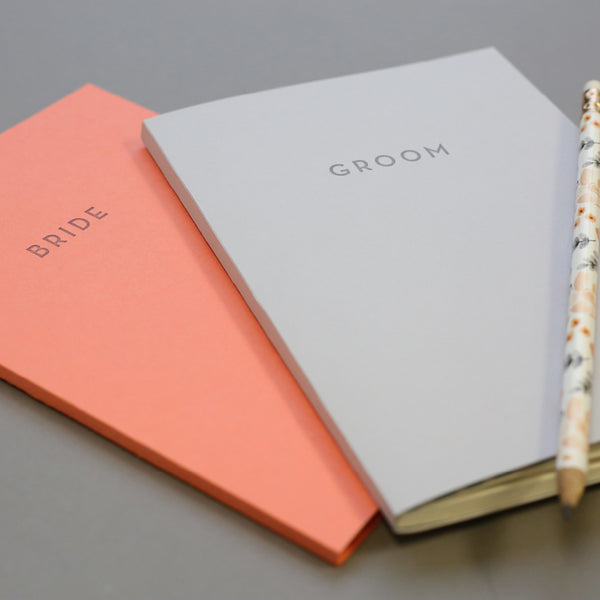 Bride + Groom Notebook Duo