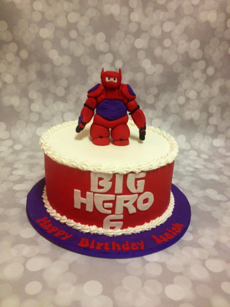 Big Hero birthday cake with 3D character