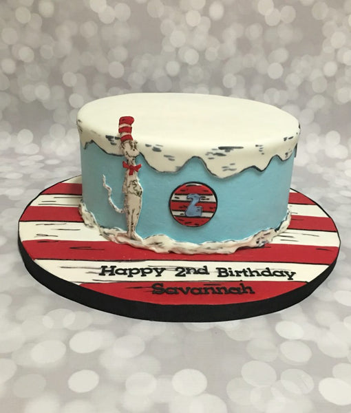 Dr Suess 1-tier birthday cake
