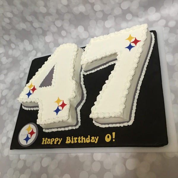 Pittsburgh steelers 47 carved birthday cake