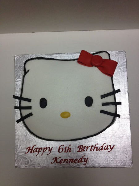 Hello Kitty carved birthday cake