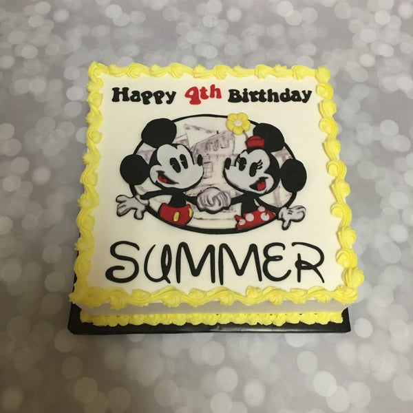 Minnie and Mickey mouse birthday sheet cake