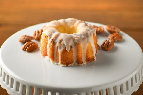 A Little Slice of Heaven Bakery - Lemon Pecan Mini Bundt Cake