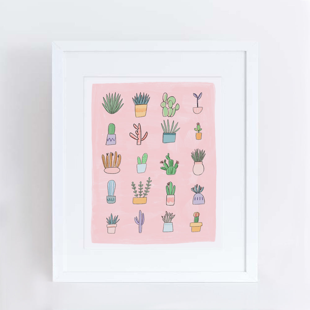 Succulents Art Print
