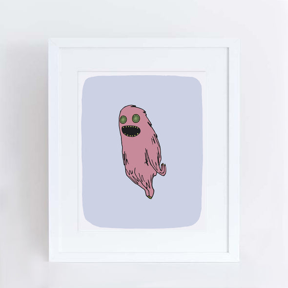 Floaty Monster Art Print