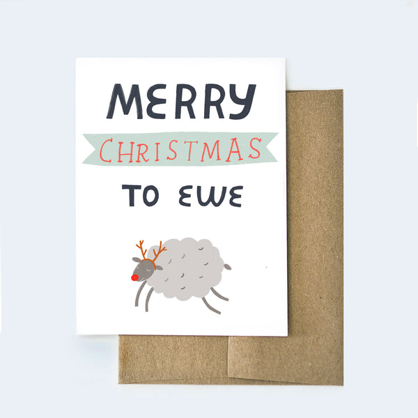 Merry Christmas to Ewe Card