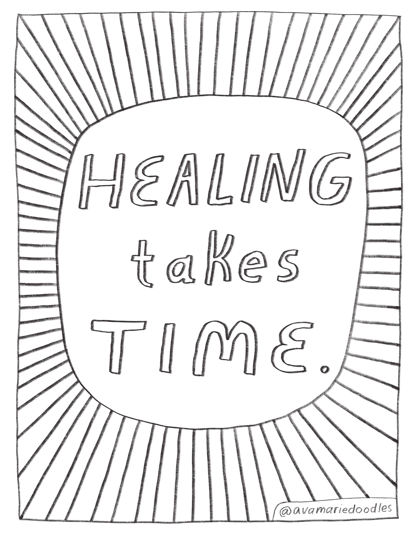 Healing Coloring Page Download