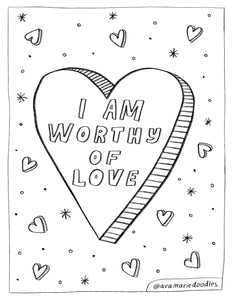 Worthy of Love Coloring Page Download