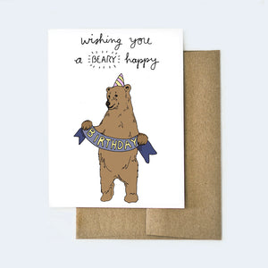 Beary Happy Birthday Card