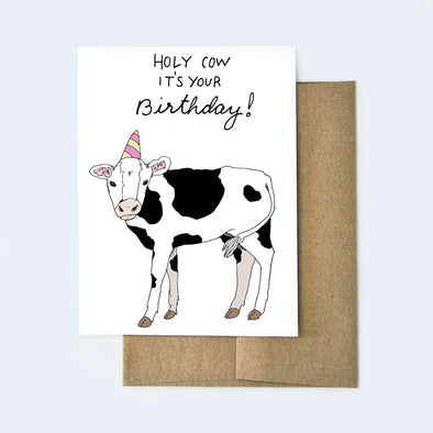 Holy Cow Birthday Card