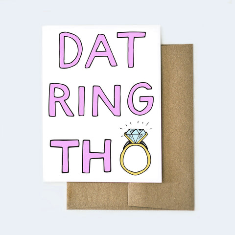 Dat Ring Tho Engagement Card