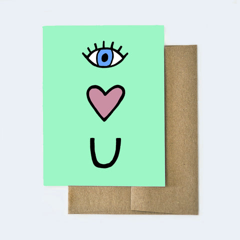 Eye Heart U Love Card