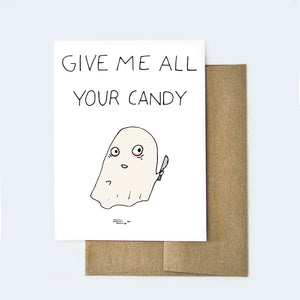 Halloween Ghost Card