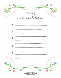 Gratitude Journal Download