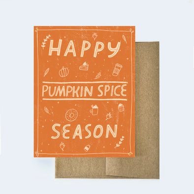 Pumpkin Spice Card