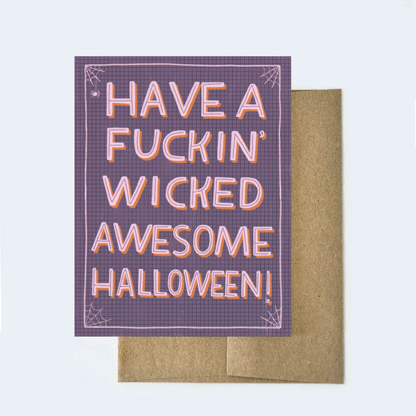 Fucking Wicked Awesome Halloween Card