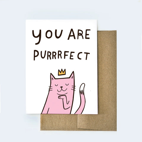 You are Purrrfect Card
