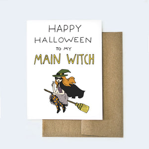 Main Witch Halloween Card