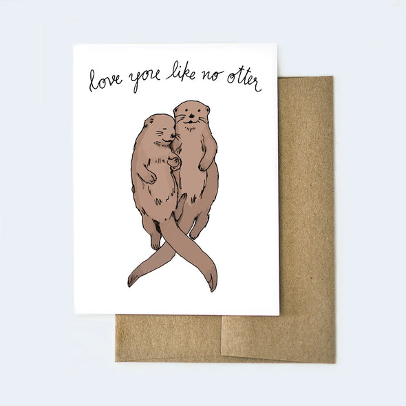 Love You Like No Otter Card