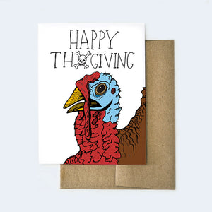 Funny Vegetarian Thanksgiving Card