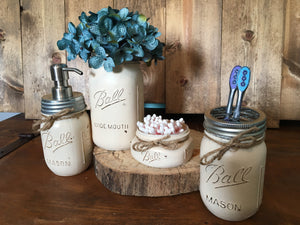 MASON JAR BATHROOM SET