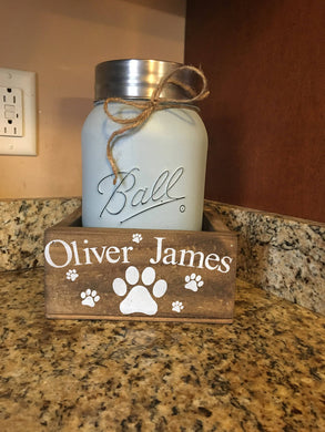 DOG TREAT CONTAINER AND JAR
