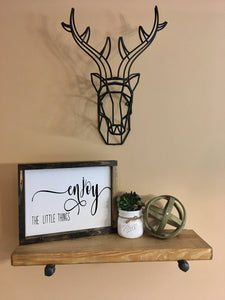 ENJOY THE LITTLE THINGS CUSTOM CANVAS SIGN