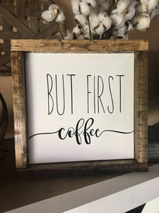 COFFEE CANVAS SIGN