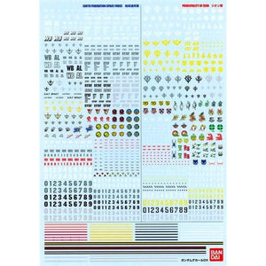 Gundam decal DX 01 - One Year War / Zeon & Earth Federation system]