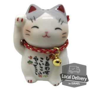 Maneki Neko Right Hand Gray 6cm