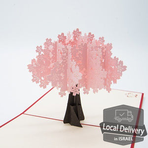 Pop-up Greeting Card - Cherry Blossoms