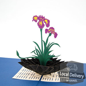 Pop-up Greeting Card - Iris