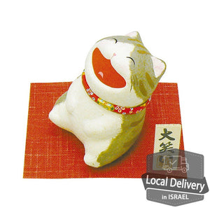 Chigiri Washi Laughter Cat  - Gray