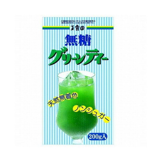 Sugarless green tea powder 200g