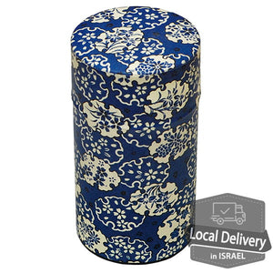 Tea Container Poccan - Blue Flowers L