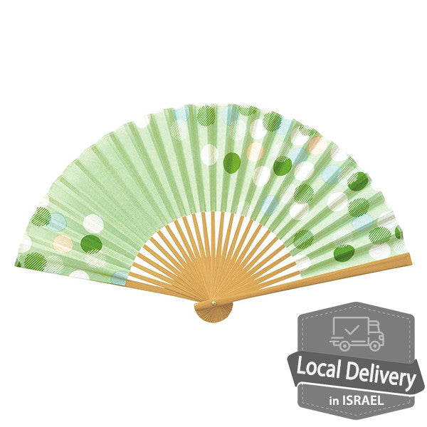 Folding Fan Cotton / Urara Green