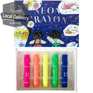 KOKUYO Neon Crayon 5 color Set