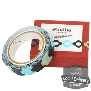 Lace Tape - Floral bracelet Blue