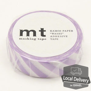 MT Masking Tape - Stripe Lilac