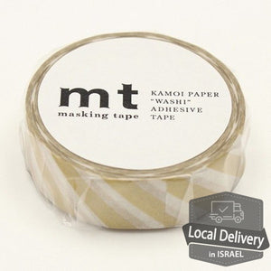MT Masking Tape - Striped Gold
