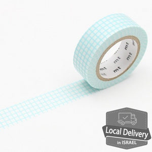 MT Masking Tape - Grid mint blue