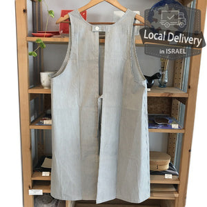 Apron Tunic - Blue Stripe