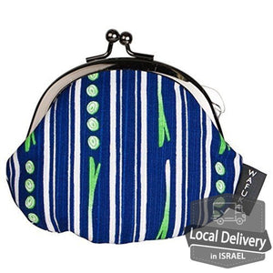 Frame Pouch - Green onion stripe